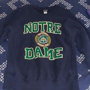 Vintage University of Norte Dame Sweatshirt